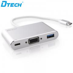 High Quality DTECH DT-T0023 TYPE-C TO VGA+PD+USB3.0 CONVERTER